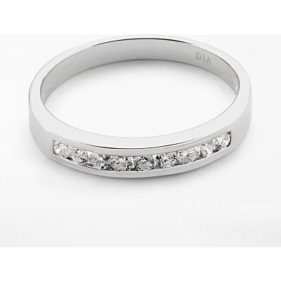 Diamond Collection 18ct White Gold Round Brilliant Channel Set Diamond Eternity Ring  0 25ct - 5055258099493
