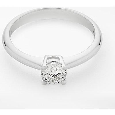 Diamond Collection 18ct White Gold Round Brilliant Diamond Engagement Ring  0 5ct - 5055258099134