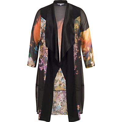 Chesca Tulip Coat, Black/Orange
