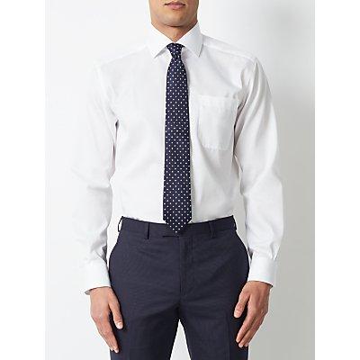 John Lewis & Partners Non Iron Cotton Twill Regular Fit Shirt, White