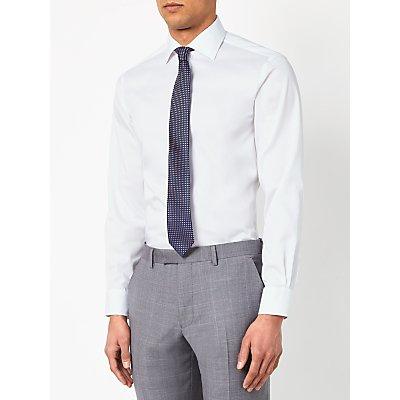 John Lewis & Partners Non Iron Twill XL Sleeve Slim Fit, White