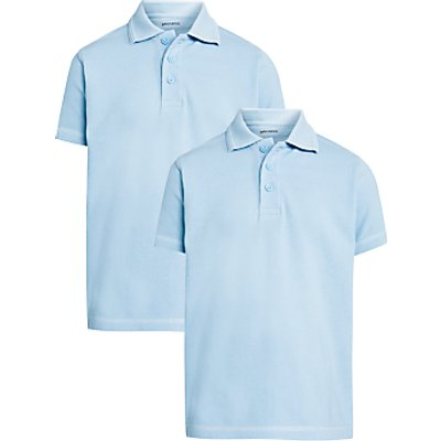 John Lewis Unisex Pure Cotton Easy Care School Polo Shirt  Pack of 2 - 23101951