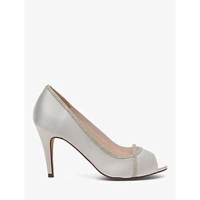 Rainbow Club Chelsey Peep Toe Stiletto Sandals, Ivory