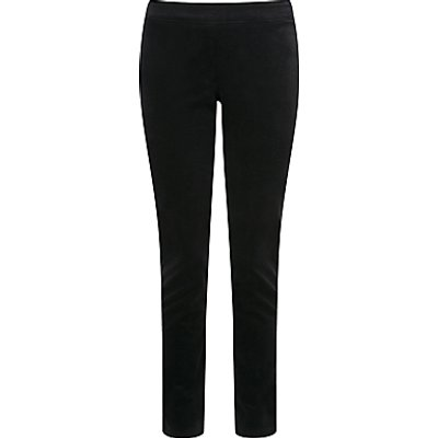 5052265464504 | Pure Collection Natalie Washed Velvet Trousers  Black
