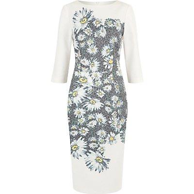 Damsel in a Dress Mixed Daisy Dress, Black/Ivory