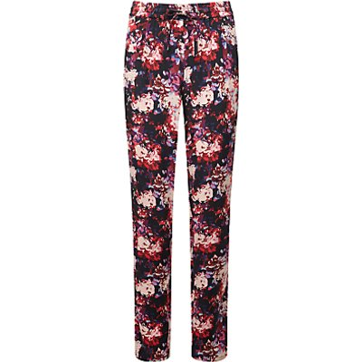 5052265581249 | Pure Collection Houston Sporty Silk Trousers  Black Floral Print