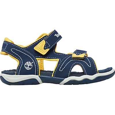 Timberland Children s Adventure Seeker Rip Tape Sandals  Navy Yellow - 888732115861