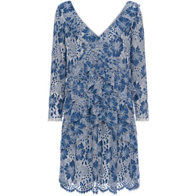 French Connection Antonia Lace Dress, Meru Blue