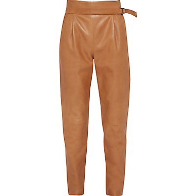 French Connection Goldenburg Leather Trousers  Terra Tan - 889042154205