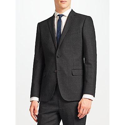 Kin by John Lewis Novello Stripe Slim Fit Suit Jacket  Charcoal - 23392250