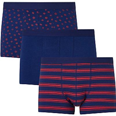 John Lewis Marigold Trunks  Pack of 3  Blue 23400368