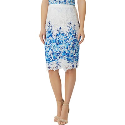 Damsel in a Dress Amily Skirt, White/Blue
