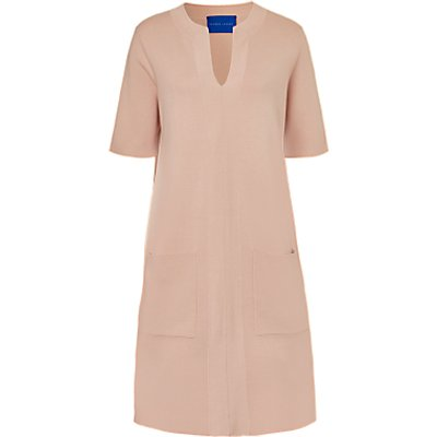 Winser London Milano Cotton Shift Dress, Blush