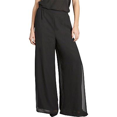 Gina Bacconi Chiffon Layered Trousers With Slits