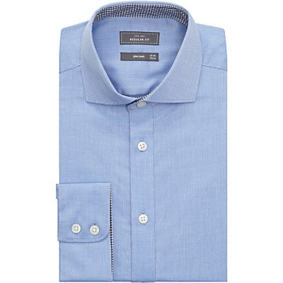 John Lewis & Partners Non Iron Dobby Regular Fit Shirt, Blue