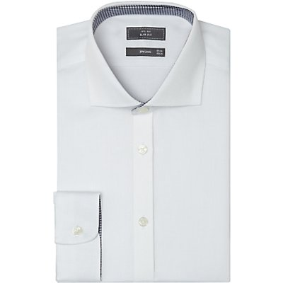 John Lewis & Partners Non Iron Dobby Slim Fit Shirt, White