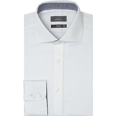John Lewis & Partners Non Iron Dobby Tailored Fit Shirt, White