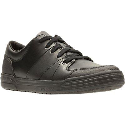 Clarks Children s Harlem Racer Leather School Shoes  Black - 5050406121323