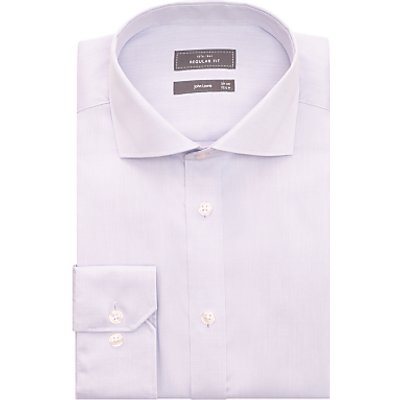 John Lewis & Partners Non Iron Cotton Twill Regular Fit Shirt, Lilac