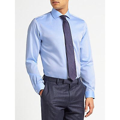 John Lewis & Partners Non Iron Twill Slim Fit Shirt, Blue