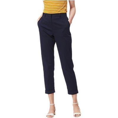 L K  Bennett Aurelia Slim Leg Cropped Trousers  Sloane Blue - 5054760188190