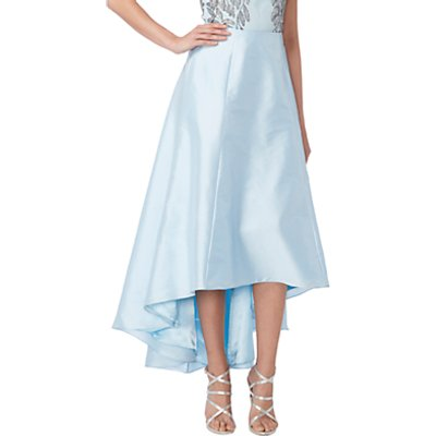 Raishma Taffeta Hi-Lo Skirt, Blue