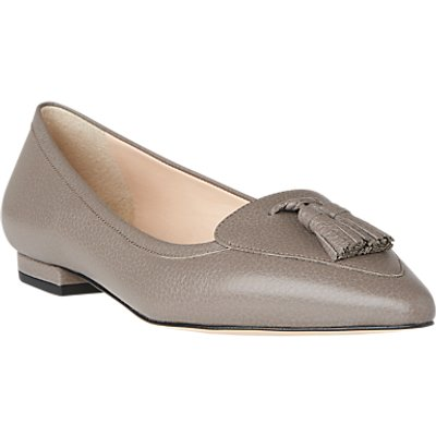 L.K. Bennett Dixie Pointed Toe Loafers, Silver