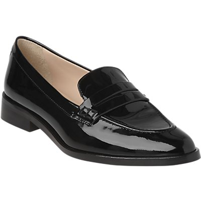 L.K. Bennett Iona Pointed Toe Loafers, Black