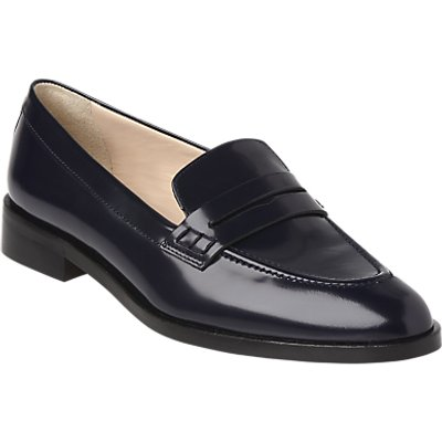 L.K. Bennett Iona Pointed Toe Loafers, Navy