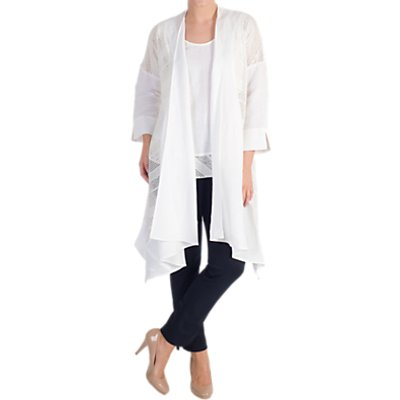 Chesca Mesh Trim Linen Coat
