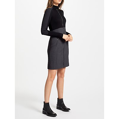 4056255569461 | Marc Cain Contrast Zip Dress  Charcoal