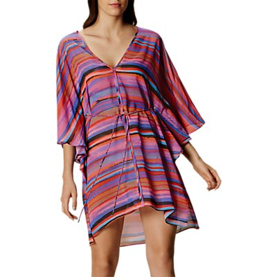 5054236214972: Karen Millen Painterly Stripe Kaftan  Multi