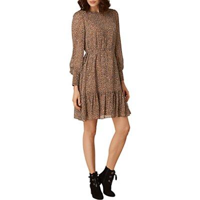 L K  Bennett Dakota Short Printed Dress  Brown Multi - 5054760227622