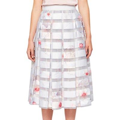 Ted Baker Chelsea Grey pleated skirt Light Grey - 5054787506755