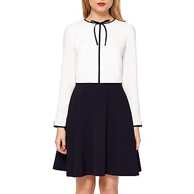Ted Baker Loozy Tie Neck Skater Dress  White - 5054787561419