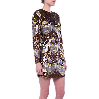 French Connection Zelda Sequin Tunic Dress, Arrowood/Multi
