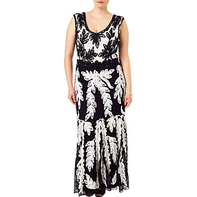 Studio 8 Lizzie Tapework Maxi Dress, Black/White