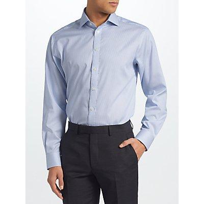 John Lewis & Partners Non Iron Bengal Stripe Regular Fit Shirt, Blue