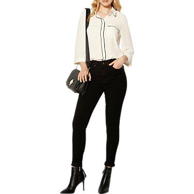 Karen Millen Clean B Denim Collection Skinny Jeans  Black - 5054236220485