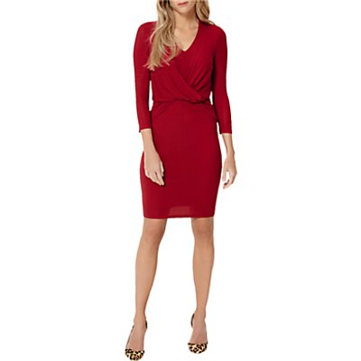 Damsel in a Dress Twist Knot Jersey Dress, Red