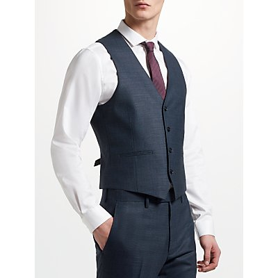 Kin by John Lewis Semi Plain Slim Fit Waistcoat  Emerald - 23949614