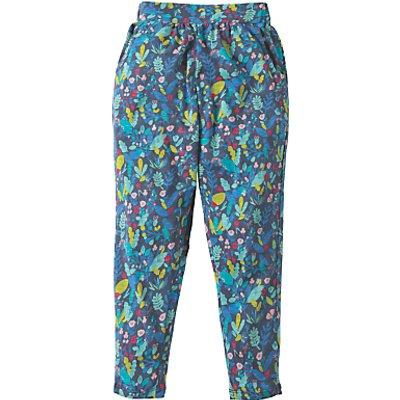 Frugi Organic Girls' Gabriella Gathered Trousers, Multi