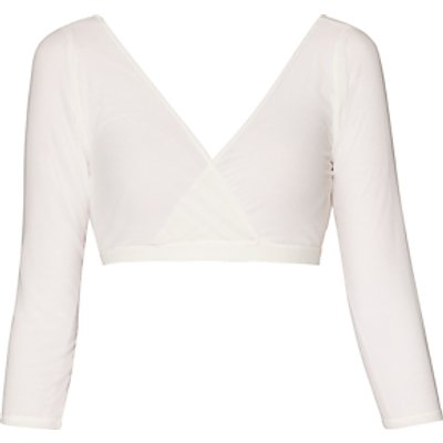 Gina Bacconi Mesh Sleeve Under Top, Cream