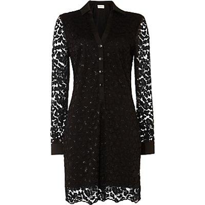 Damsel in a Dress Lace Shirt Dress, Black