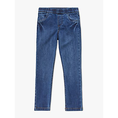 John Lewis   Partners Girls  Fashion Jeggings  Blue - 23996991