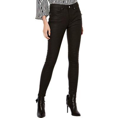 Karen Millen Coated Skinny Jeans  Black - 5054236228917