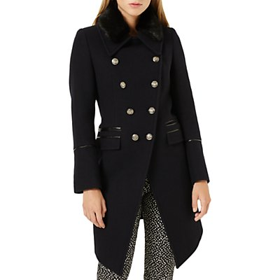 Damsel in a Dress Fairfield Military Coat, Navy/Black
