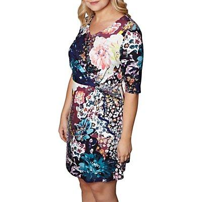 Yumi Curves Floral Print Dress, Multi