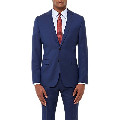 Jaeger Wool Twill Slim Fit Suit Jacket  Royal Blue - 5054589449816