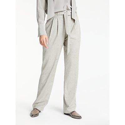 Modern Rarity Tweed Paper Bag Trousers  Grey - 23904910
